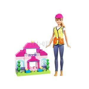 バービー Barbie Builder 工事人 ドール 人形 ブロック付き コンストラクション プレイセット(FCP76)|far-out