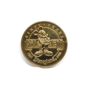 ディズニーランド ミッキー生誕60周年記念 ビニールケース付き ゴールドプレート コイン メダル 蒸気船ウィリー 1988年 DL|far-out