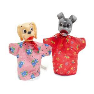 わんわん物語 レディ&トランプ ハンドパペット GUND 2点セット 1960年代 ヴィンテージ ディズニー Lady and the Tramp Hand Puppet|far-out