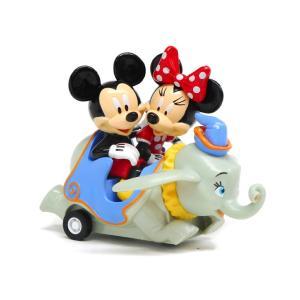 空飛ぶダンボ アトラクション ミッキー&ミニー プルバックカー フィギュア テーマパーク限定 ミニカー ダンボライド Dumbo The Flying Elephant|far-out