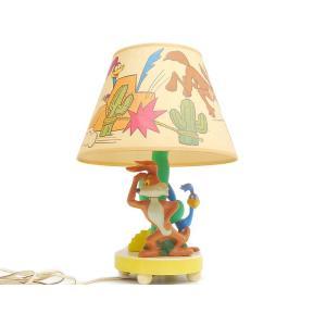 ルーニー・テューンズ ロードランナー&ワイリーコヨーテ ランプ ヴィンテージ Looney Tunes Roadrunner & Wile E. Coyote Lamp 1977年 ライト 照明|far-out