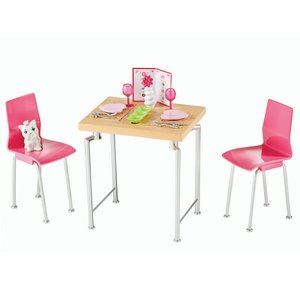 バービー ダイニング プレイセット 仔猫のフィギュア付き 家具 食事 Barbie Dining Set & Kitten|far-out