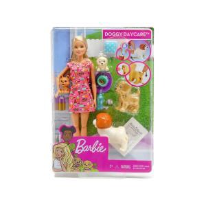 バービー&パピー ペットのお世話 アクション ドール 人形 プレイセット 犬 仔犬 Barbie Doggy Daycare Puppies (FXH08)|far-out