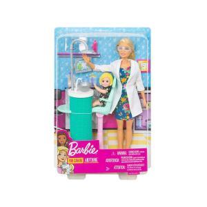 バービー 歯科医 ドール 人形 女の子のフィギュア付き プレイセット ブロンドヘア ニューバージョン 歯医者さん Barbie Dentist (FXP16)|far-out