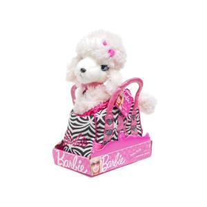 バービー ピンクプードル シークイン ぬいぐるみ ゼブラ柄 ハンドバッグ入り 子犬 RUSS Barbie Fashion Pet Set Sequin|far-out
