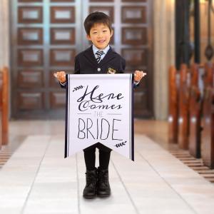 演出アイテム「フラッグ[B]新婦が登場するよ」/結婚式|farbe