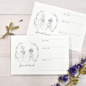 結婚式 ゲストカード 芳名カード「Bride and Groom ドレス(20枚入)」 / 受付 芳...