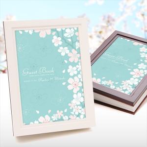 「芳名帳(名入)」ウッディゲストブック「かのん桜」/パーティ...