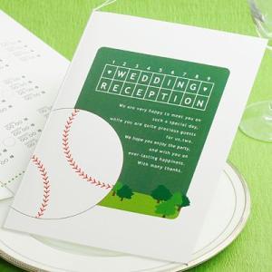 【野球】ベースボール 席次表パンフレット手作りセット/結婚式 席次表|farbe