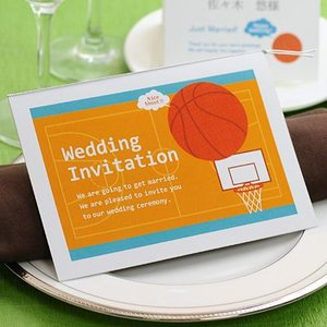 バスケットボール招待状手作りキット/結婚式 招待状|farbe
