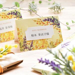 席札DIY手作りセット「ミモザ・ルフレ」(10名様分)/結婚式|farbe