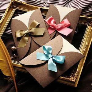 結婚式 招待状 手作り / 招待状手作りセット「ルネ」(1名様分) / リボン ブラウン farbe
