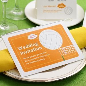 結婚式 招待状 手作り / バレーボール 招待状 手作りキット(1名様分) / スポーツ|farbe