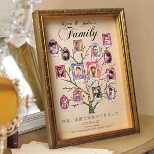 家族の絆ギフト「ファミリーツリー」 結婚式両親へのプレゼント...