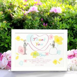 感謝ボード(デザインコレクション)「結びハート」/メモリアルタイプ(日数入り)/結婚式両親プレゼント farbe