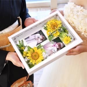 フォトフレームフラワー子育て感謝状「ひまわり」 /お好きなお写真をセットして贈れる両親へのプレゼント 結婚式 両親贈呈品 farbe 03