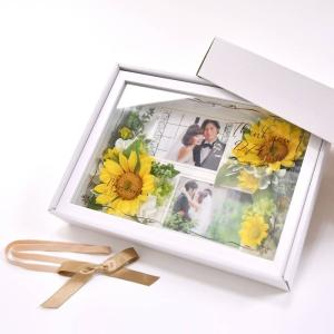 フォトフレームフラワー子育て感謝状「ひまわり」 /お好きなお写真をセットして贈れる両親へのプレゼント 結婚式 両親贈呈品 farbe 05