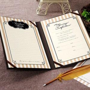 結婚証明書 ゲスト参加型 アルト キャメル / 結婚式|farbe