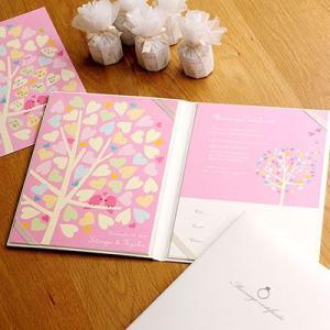 結婚証明書 ゲスト参加型 ハートツリーピンク / 結婚式|farbe