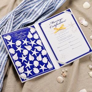 結婚証明書 ゲスト参加型 マレーナネイビー / 結婚式|farbe