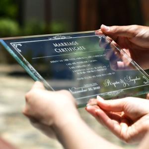 \一生の宝物になる/ガラスの結婚証明書「ヴェール」結婚式|farbe