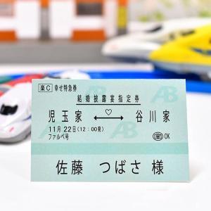 席札 新幹線チケット風(印刷込 完成品)/ 結婚式 farbe