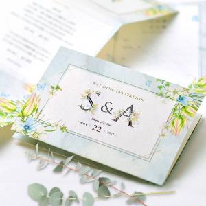 招待状 「イニシャルフラワー」(入力印刷込)/結婚式|farbe