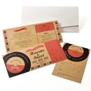 招待状 半券付チケット風「ミュージック」(入力印刷込) / 結婚式 ブライダル|farbe|03