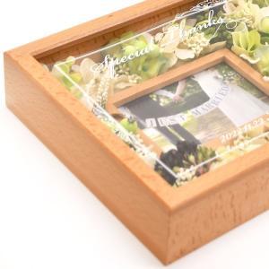 両親プレゼント[選べるフラワーアレンジ]ナチュラル花時計フォトフレーム付【木製無垢材】 | 両親へのプレゼント 結婚式|farbe|08