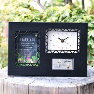 \両親へのプレゼント/サンクスオルゴール時計 ブラッククロッ...