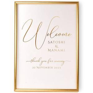 【即日出荷】金箔のウェルカムボード「クーレーゴールド」/結婚式 パーティー|farbe|04