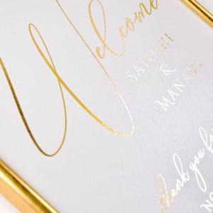 【即日出荷】金箔のウェルカムボード「クーレーゴールド」/結婚式 パーティー|farbe|05