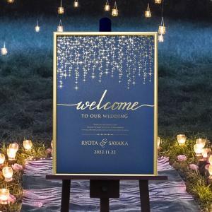入荷待ち(3月中旬〜順次発送) 金箔のウェルカムボード「シューティングスター」/結婚式 パーティー|farbe|02