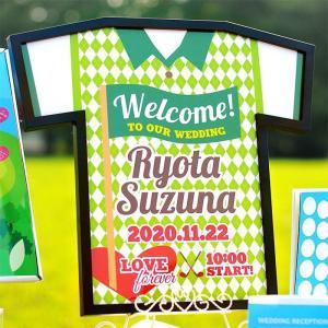 【Tシャツ型ウェルカムボード】ゴルフ/スポーツ/パーティー/結婚式|farbe