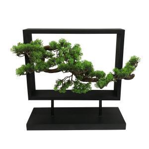 置き型木枠入り造花盆栽 横型|faristyle