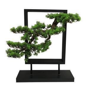 置き型木枠入り造花盆栽 縦型|faristyle