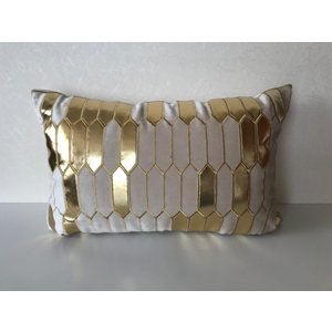 枕型クッション ベージュ*ゴールド|faristyle