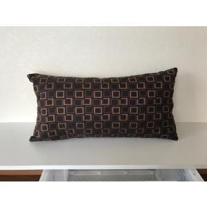 枕型クッションL ブラウンチェック|faristyle