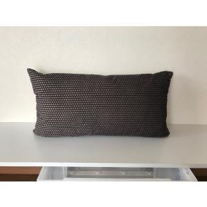 枕型クッションL 黒|faristyle