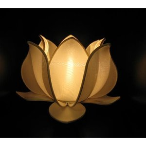 ベトナム製 ロータスランプ L 白 (アジアンインテリア)|faristyle