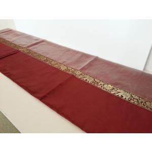 タイシルク テーブルランナー 象柄 レッド*シルバーレッド (アジアンインテリア)|faristyle