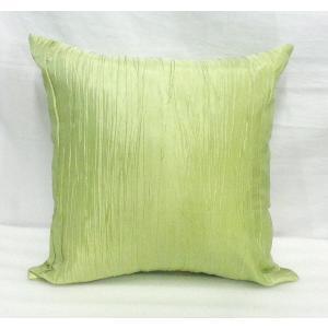 タイシルク クッションカバー ライトグリーン (アジアンインテリア)カバーのみ|faristyle