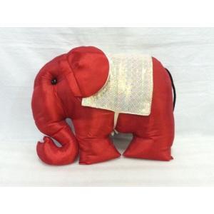 タイシルク 象クッション 赤*白|faristyle