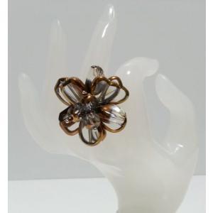 ハンドメイド樹脂使用 オリジナルリング(指輪)クリア  (アジアンアクセサリー)|faristyle