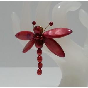 シェル使用 オリジナルリング(指輪)赤とんぼ  (アジアンアクセサリー)|faristyle