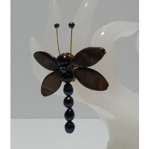 シェル使用 オリジナルリング(指輪)黒とんぼ  (アジアンアクセサリー)|faristyle