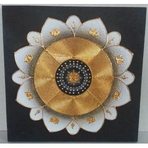 タイ絵画 50×50 D8 (アジアンインテリア)|faristyle