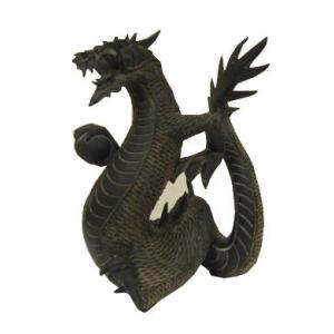 バリ島製 木彫りオブジェ 龍 H30 Right (アジアンインテリア)|faristyle