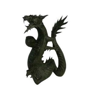 バリ島製 木彫りオブジェ 龍 H50 Right (アジアンインテリア)|faristyle