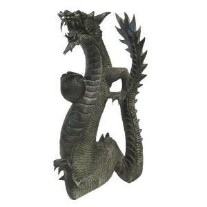 バリ島製 木彫りオブジェ 龍 H60 Right (アジアンインテリア)|faristyle